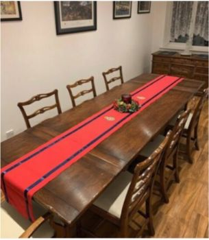 RE CORP EMBROIDERED TABLE RUNNER